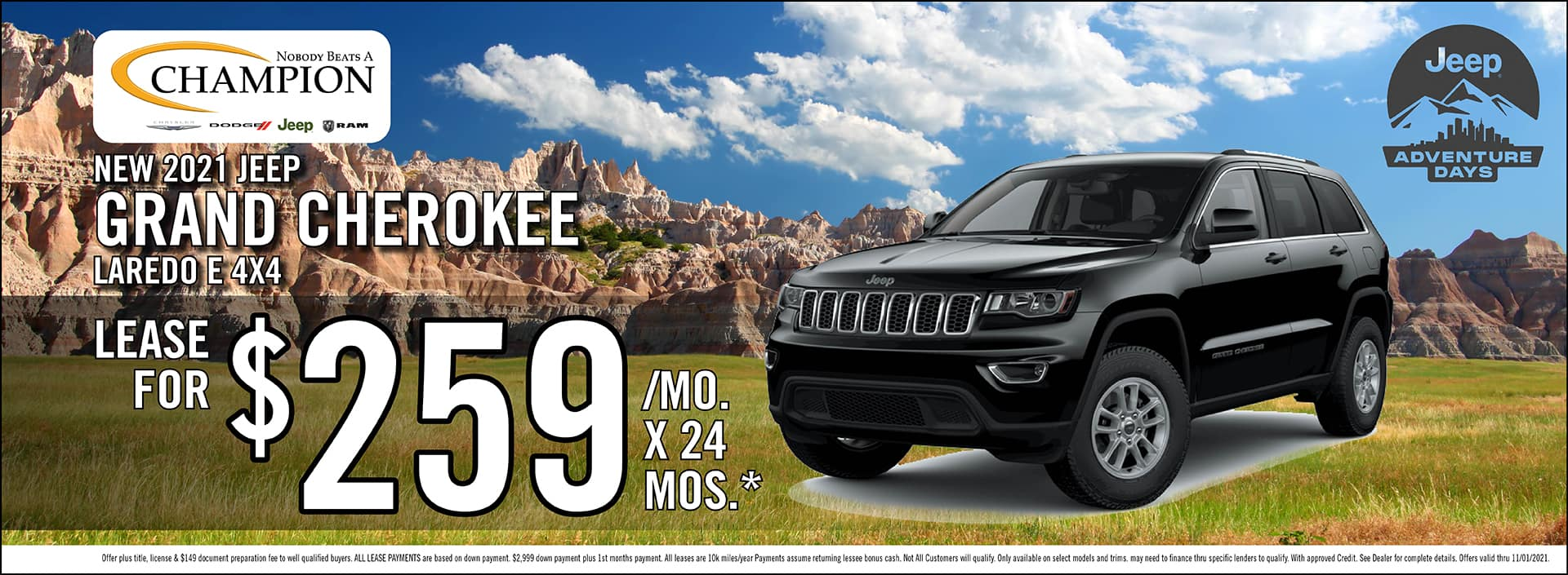 New 2021 Jeep Grand Chrerokee Laredo Offer