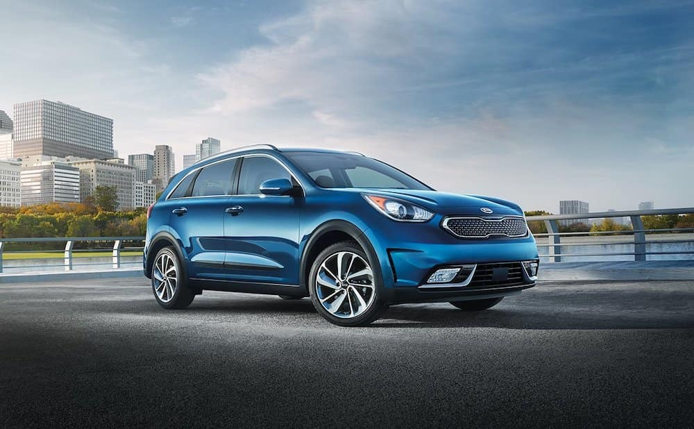 2019 Kia Niro in blue near city