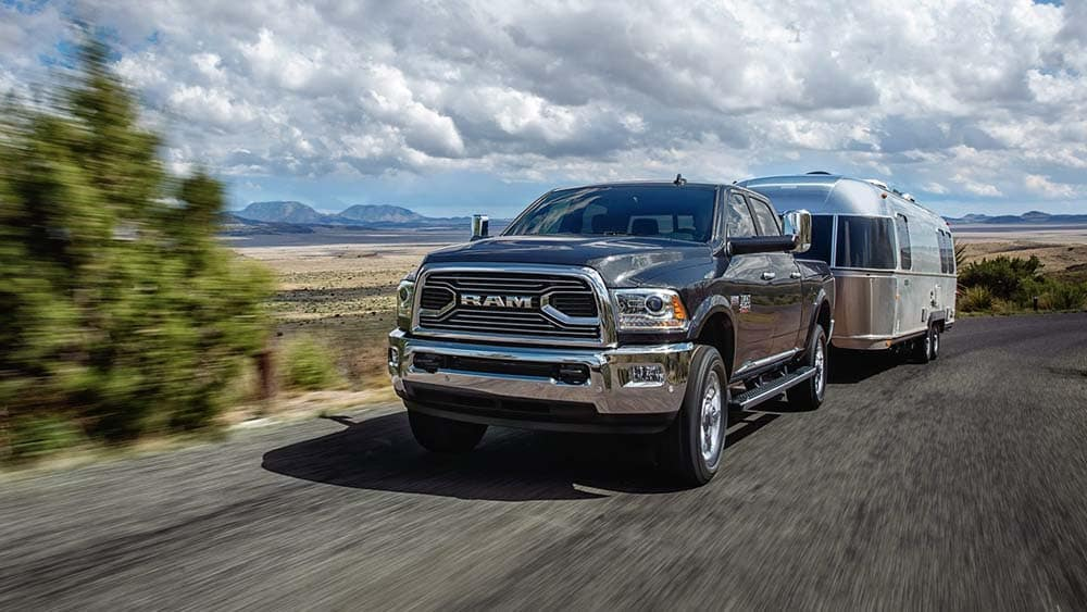 2018 Ram 2500 Limited HEMI towing an airstream trailer