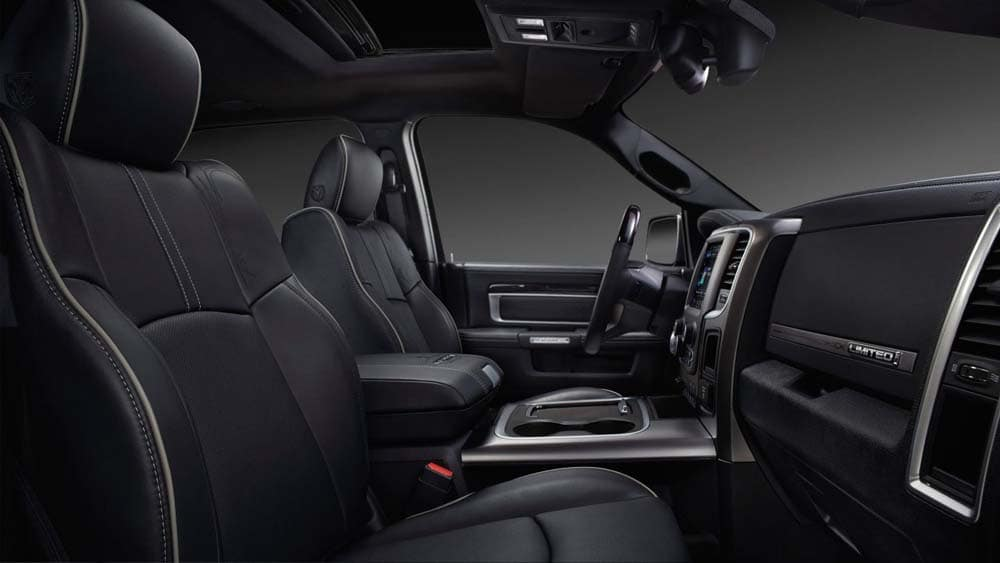 interior cabin of 2018 Ram 2500
