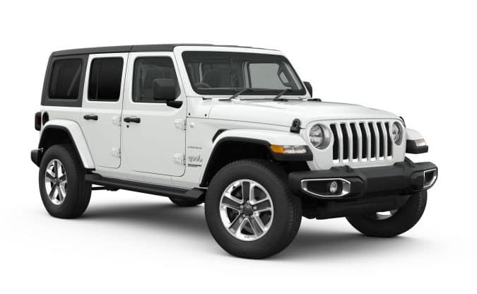 2018 Jeep Wrangler Bright White Exterior Paint