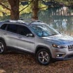 2019 Jeep Cherokee in the woods