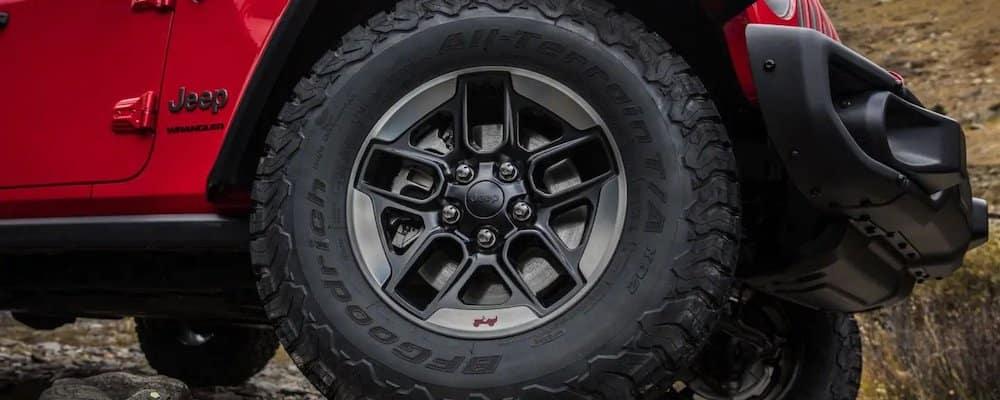 up close of Wrangler tire