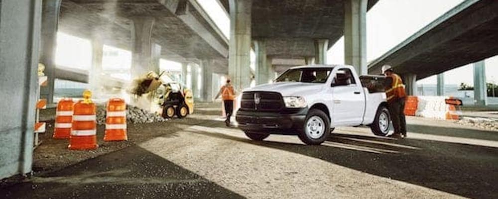 ram truck at job site