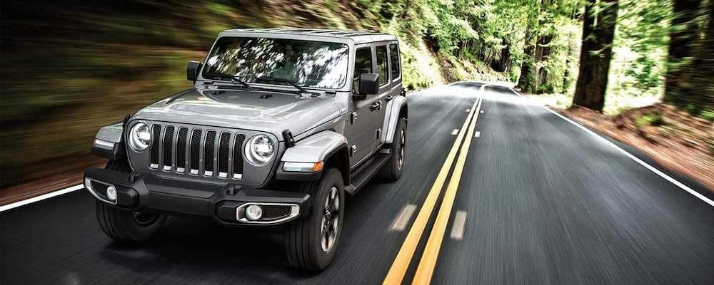 2019 wrangler driving through woods