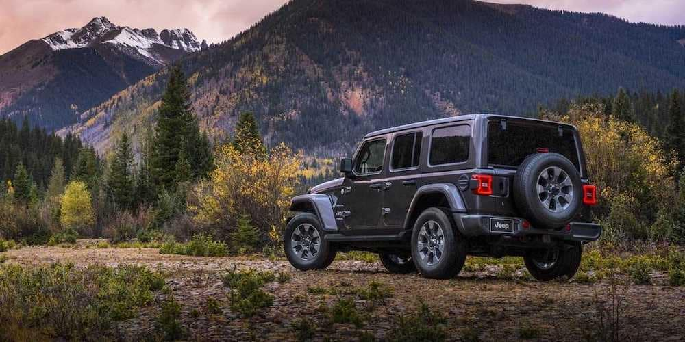 2019 wrangler parked in wilderness