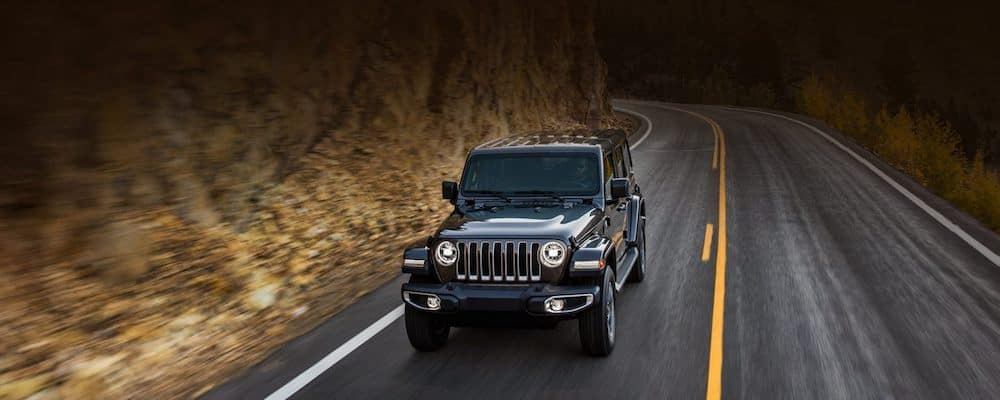 2019 Jeep Wrangler Driving Down Highway