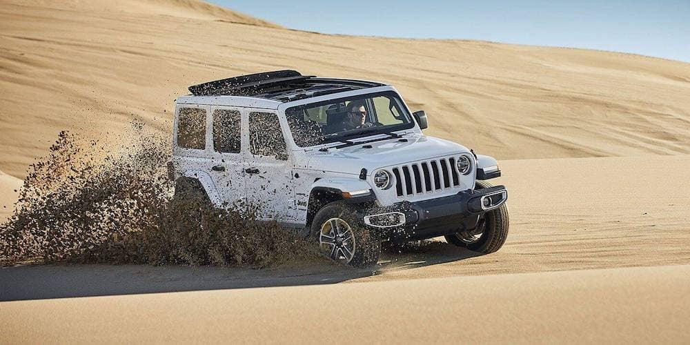 2019 Jeep Wrangler Driving in Desert