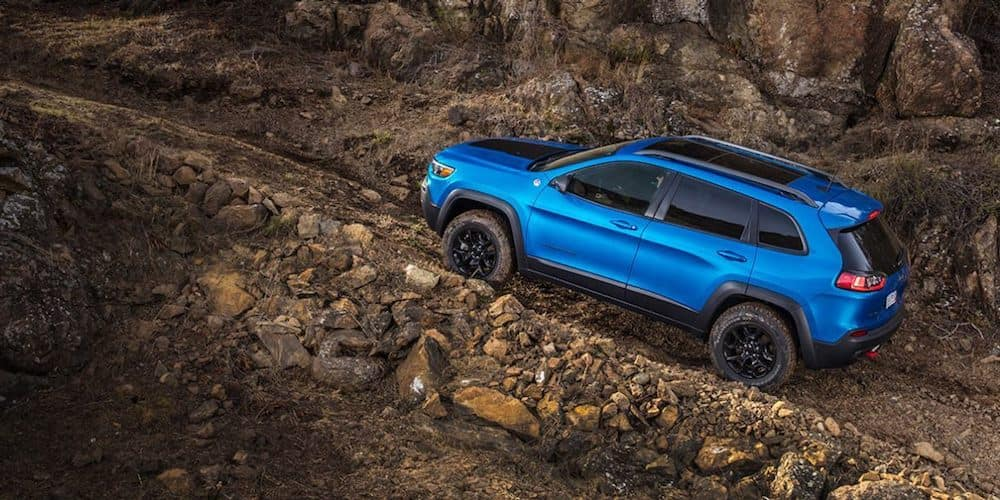 Blue 2019 Jeep Cherokee Off-Road