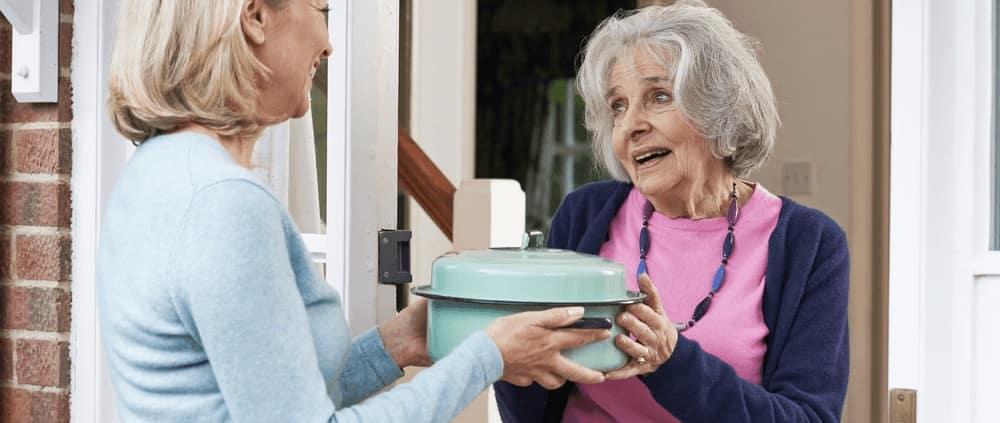 Delivering Food to Senior
