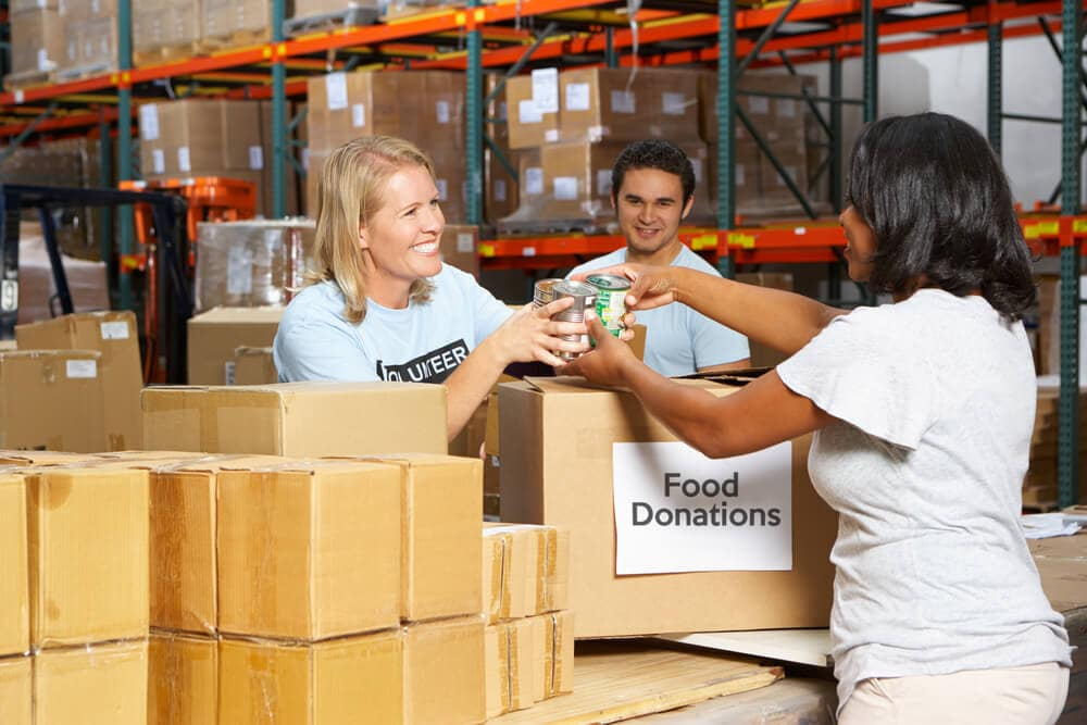 Delivering to a Food Bank