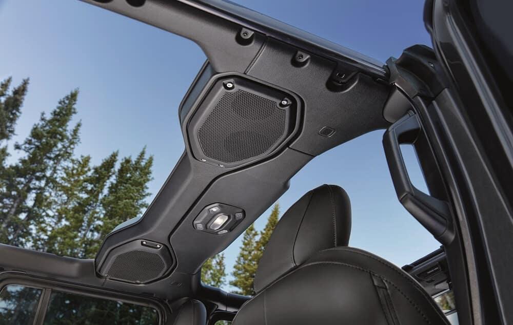 Jeep Wrangler with 9-speaker Alpine® Premium Audio System