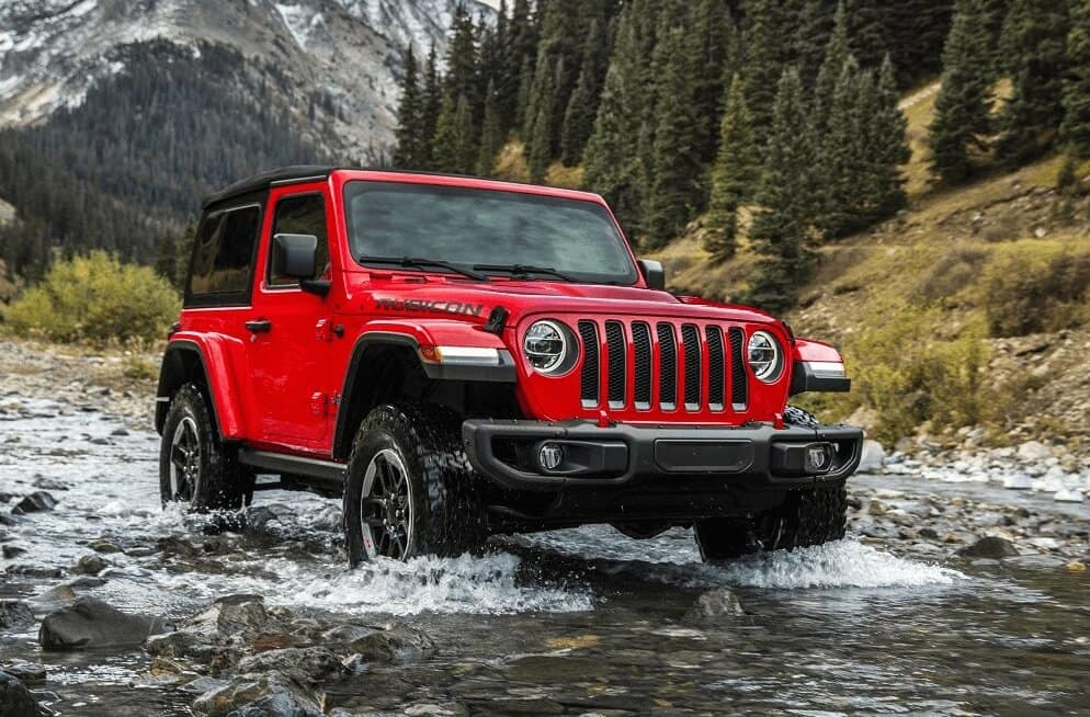Jeep Wrangler Driving in Water