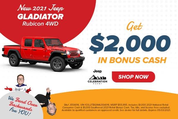 New 2021 Jeep Gladiator Rubicon 4WD