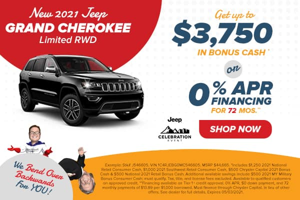 NEW 2021 JEEP GRAND CHEROKEE LIMITED 4X2