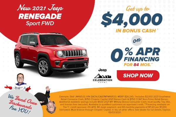 NEW 2021 JEEP RENEGADE JEEPSTER FWD