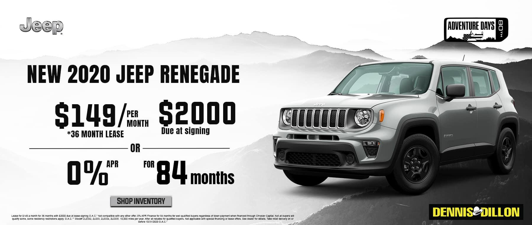 Jeep RENEGADE 10-2020