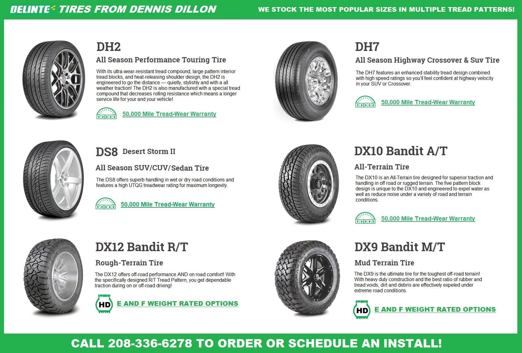 Dennis Dillon Logo >> Delinte Tires Sales Dennis Dillon Automotive