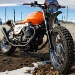 Moto Guzzi 3 quarter blue sky