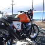 Moto Guzzi back view