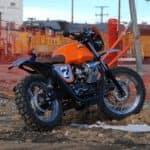 Moto Guzzi by fence
