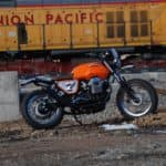 Moto Guzzi by train