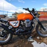 Moto Guzzi gorgeous sky