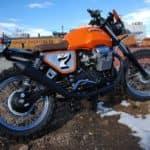 Moto Guzzi in field
