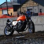 Moto Guzzi on gravel