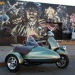 Vespa with sidecar profile