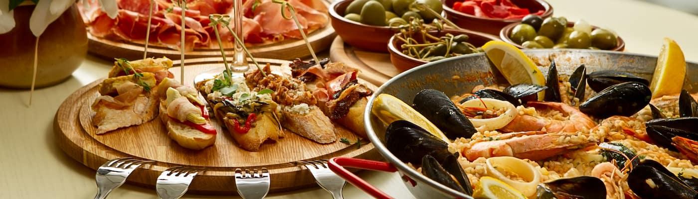 Italian Food on table