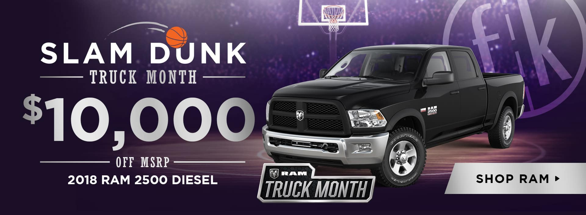 March 2018 RAM 2500 Diesel $10,000 Off