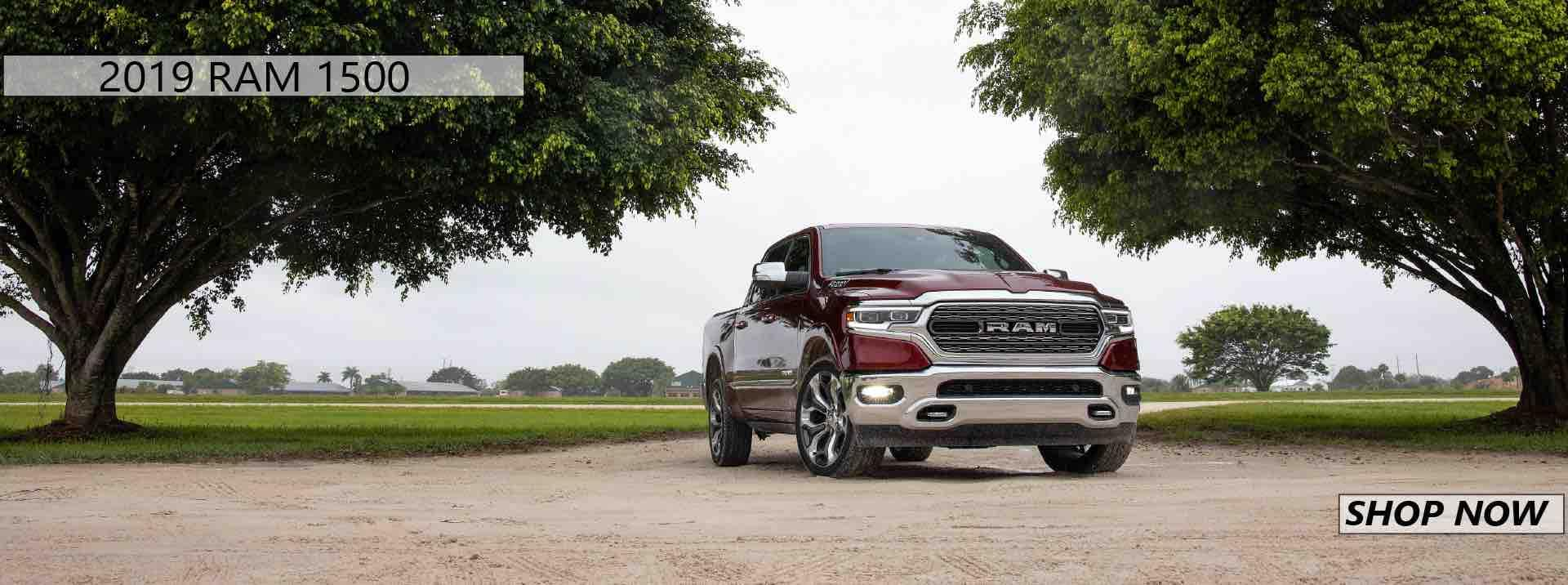 2019 Ram 1500 parked under two trees in Ennis
