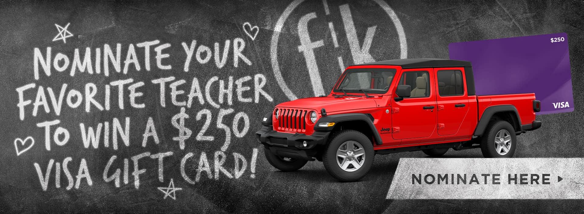 Nominate your favorite Teacher!