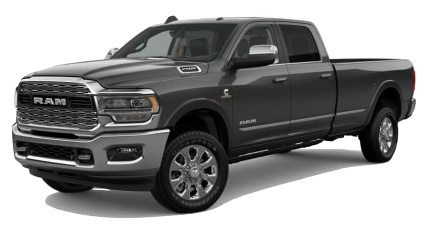 A grey 2019 Ram 2500 is facing left.