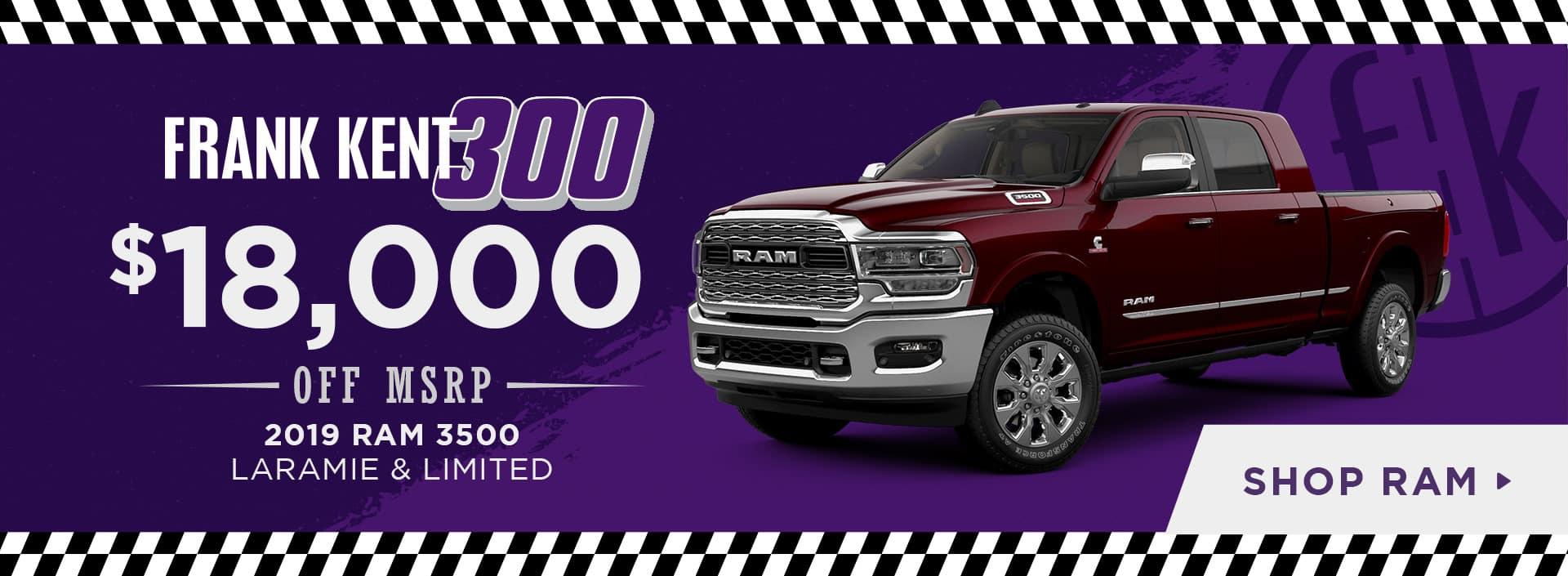$18,000 OFF 2019 RAM 3500 LARAMIE & LIMITED