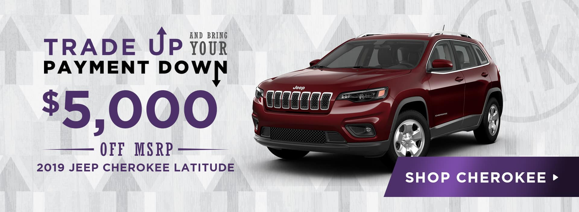 $5,000 Off 2019 Jeep Cherokee Latitude