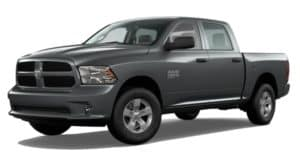 A grey 2020 Ram 1500 Classic is facing left.