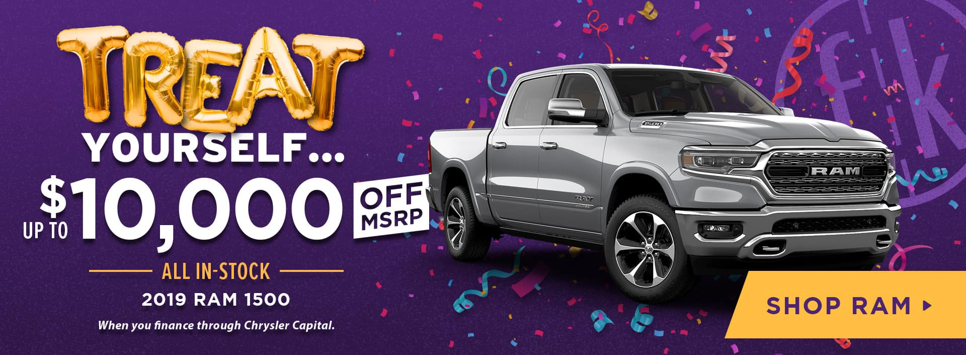 Up to $10,000 Off All In-Stock 2019 RAM 1500