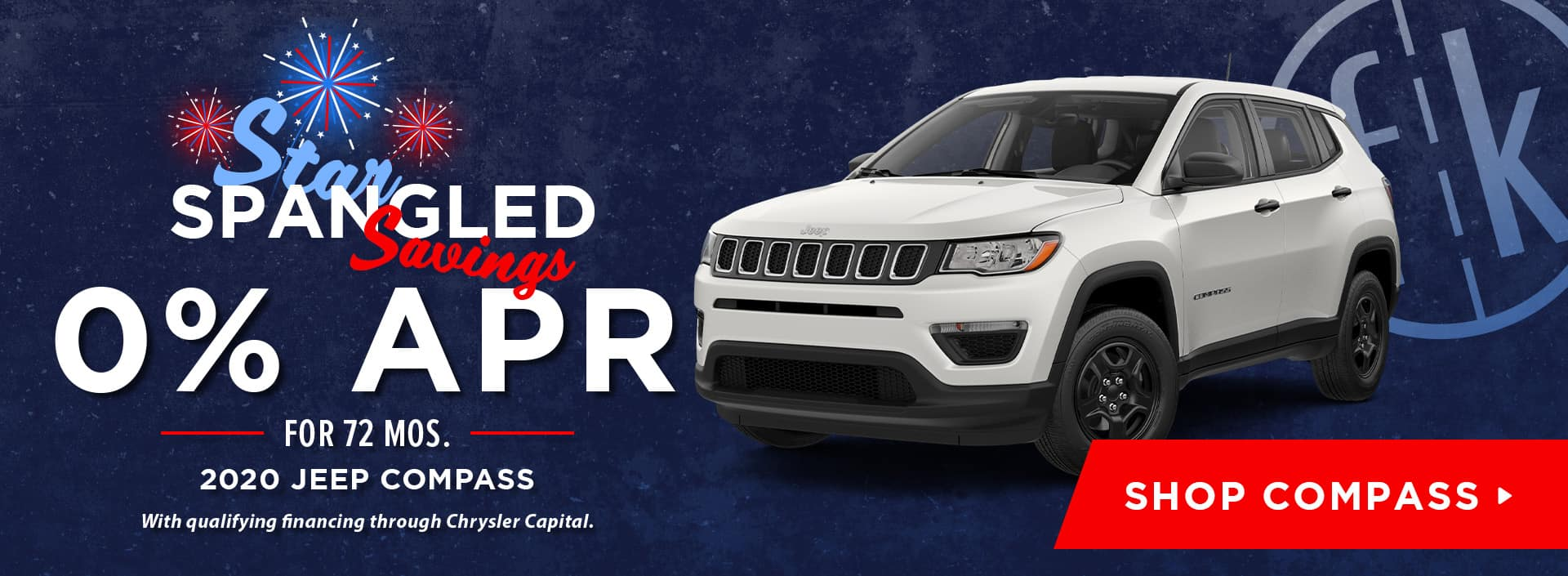 0% for 72 mos. 2020 Jeep Compass