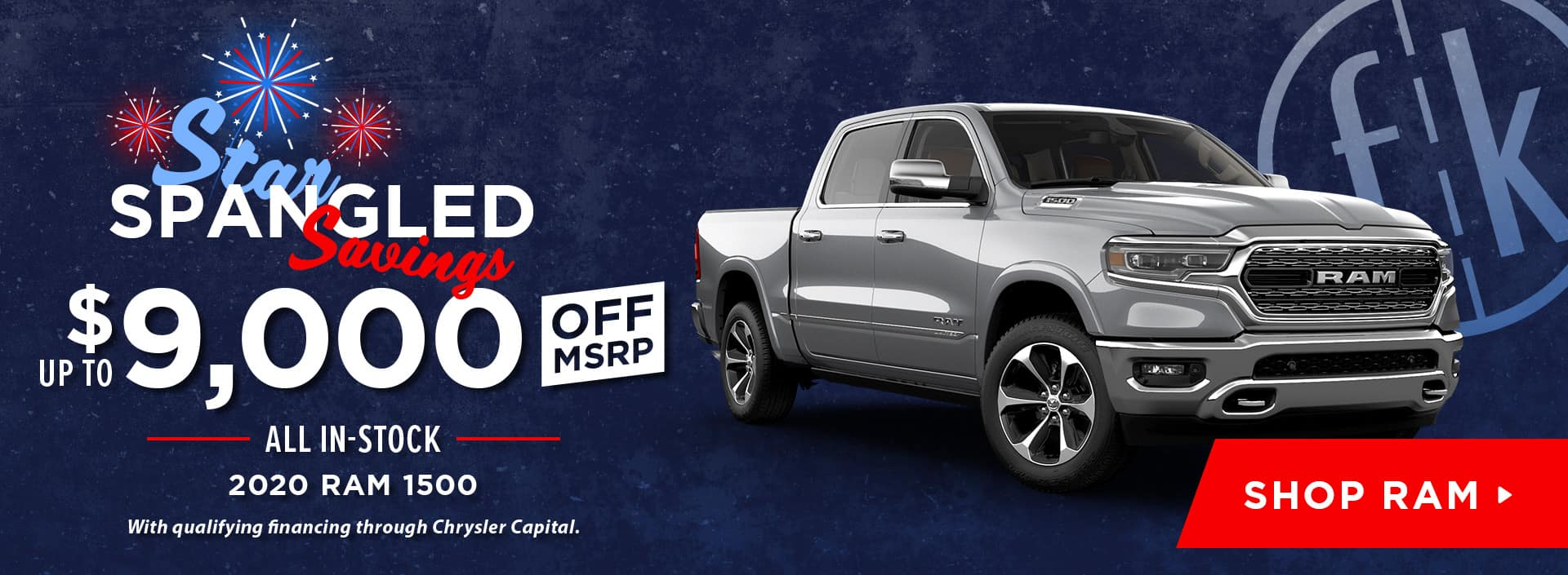 Up To $9,000 Off All In-Stock 2020 RAM 1500