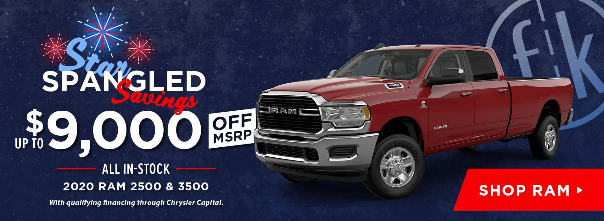 Up To $9,000 Off All In-Stock 2020 RAM 2500 & 3500