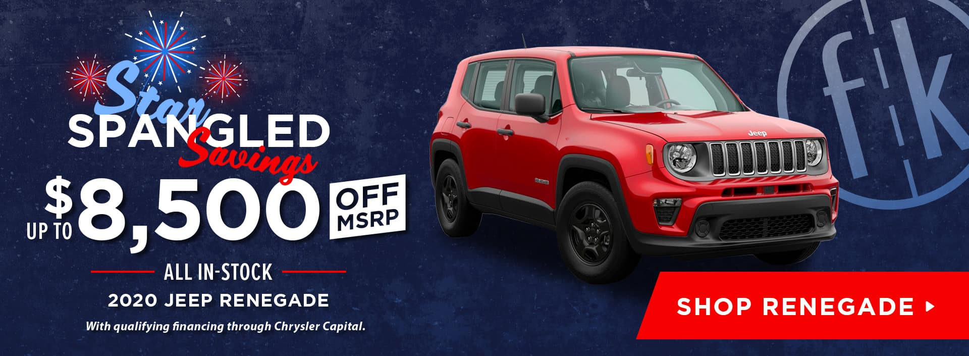 Up To $8,500 Off All In-Stock 2020 Jeep Renegade