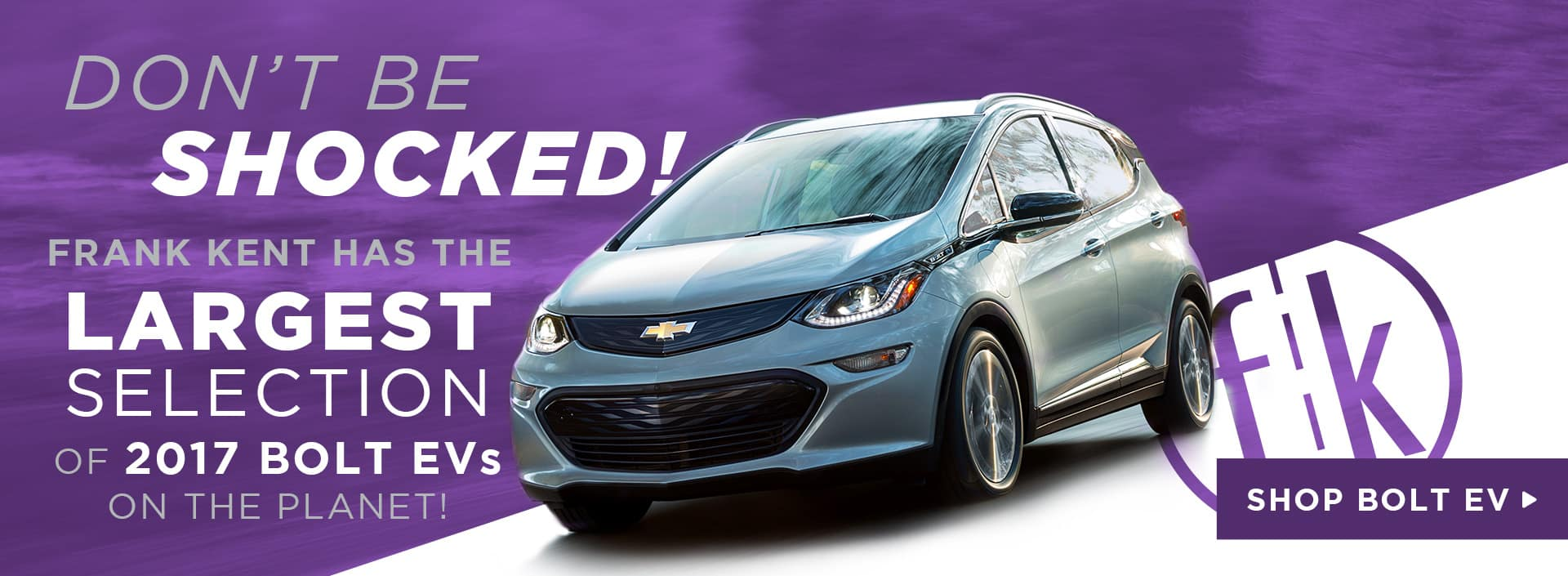 Frank Kent Has The Largest Bolt EV Inventory On The Planet!
