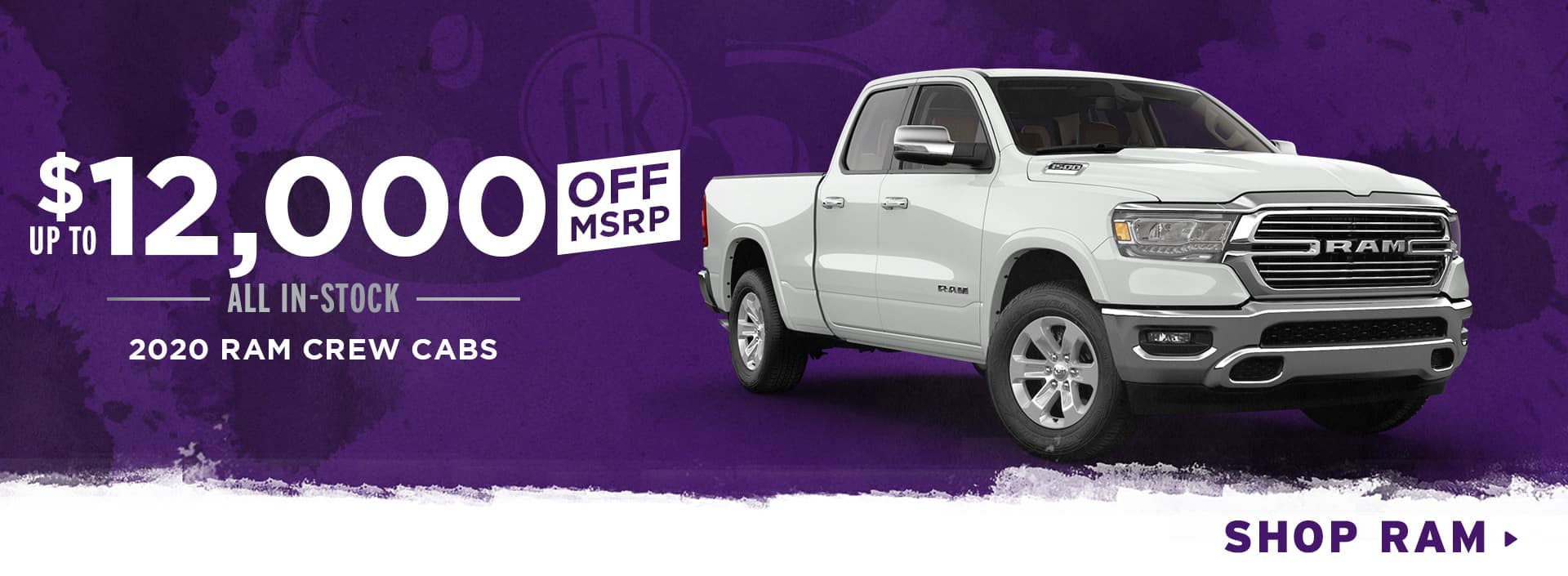 Up To $12,000 Off All In-Stock 2020 Ram Crew Cabs