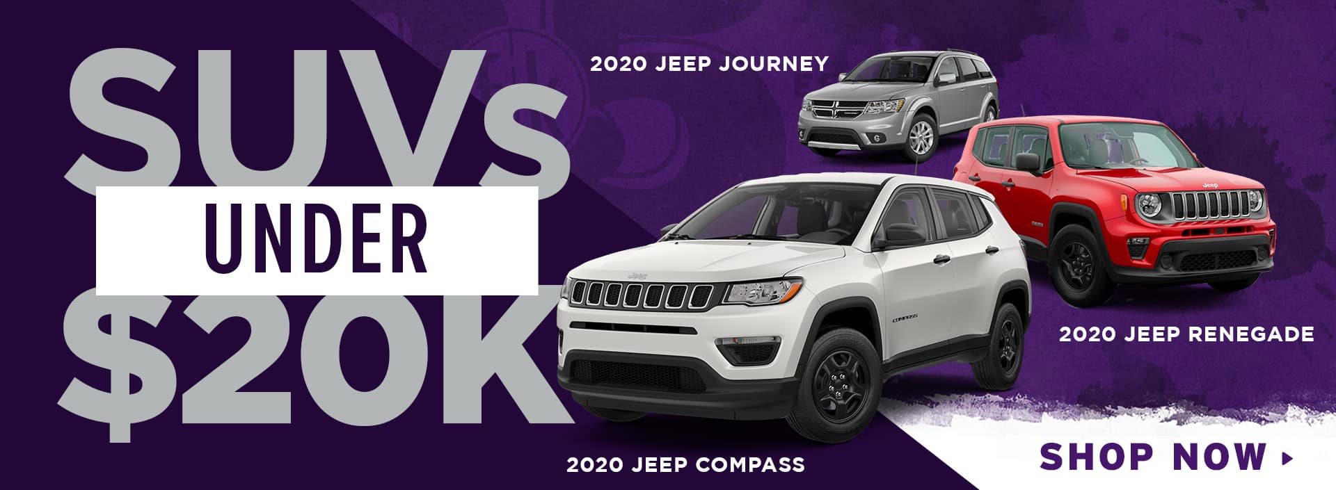 SUVs Under 20k (Journey, Renegade & Compass)
