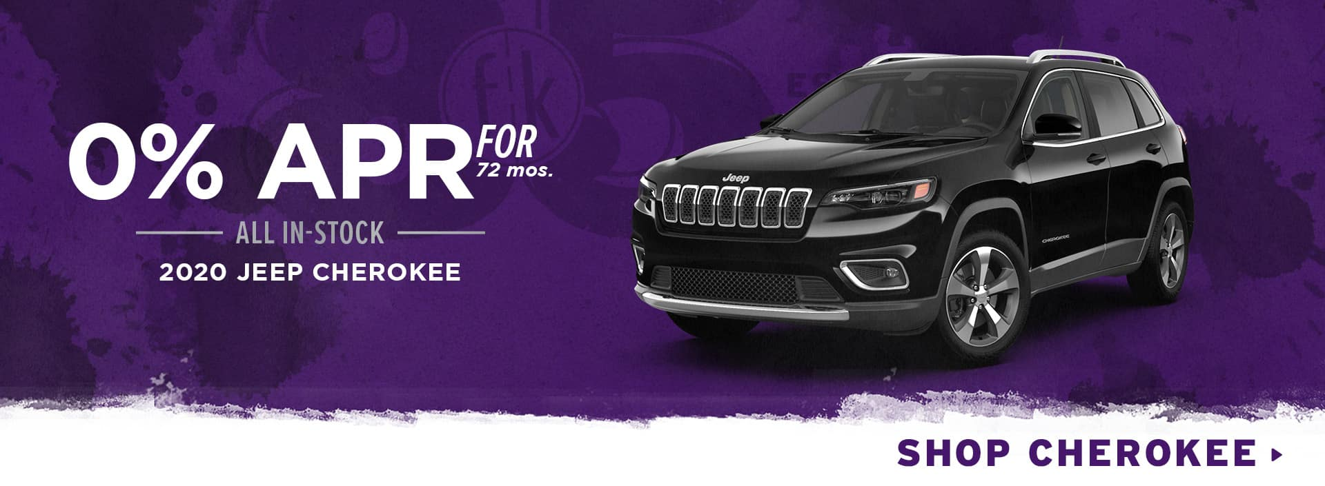 0% for 72 mos. All In-Stock 2020 Jeep Cherokee