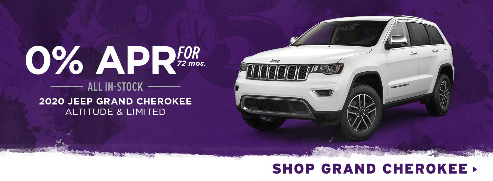 0% for 72 mos. All In-Stock 2020 Jeep Grand Cherokee Altitude & Limited