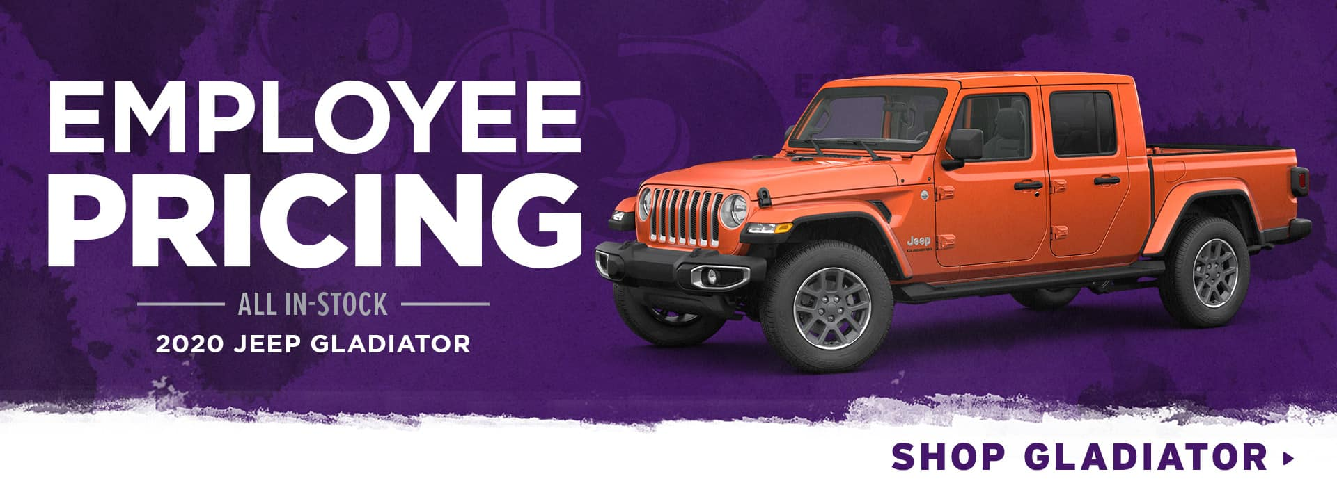Employee Pricing on All In-Stock 2020 Jeep Gladiator
