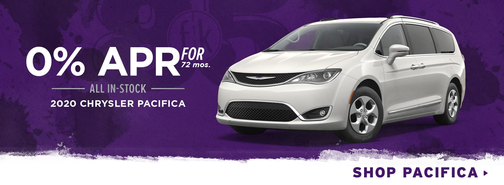 0% for 72 mos. All In-Stock 2020 Chrysler Pacifica